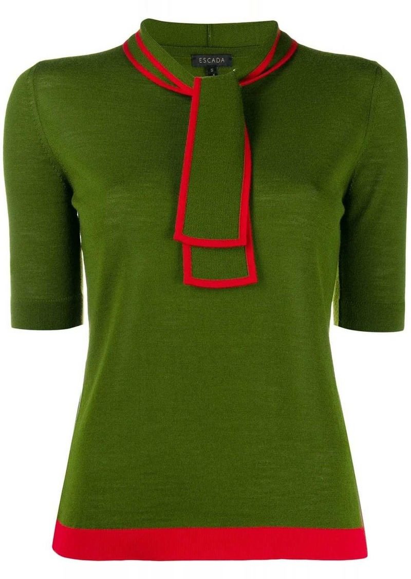 Escada scarf neck knitted top