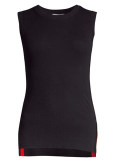 Escada Scarletta Rib Knit Sleeveless Top
