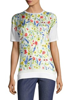 Escada Serme Floral Wool-Silk Top
