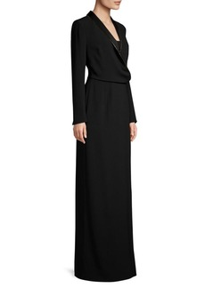 Escada Shawl Wrap Gown