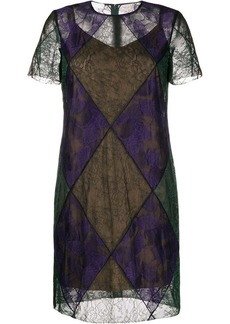 Escada sheer lace dress