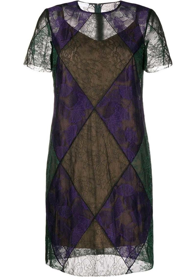 Escada sheer lace dress