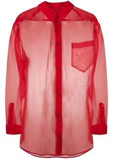 Escada sheer loose-fit silk shirt