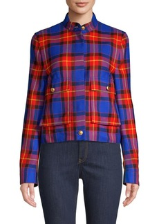 Escada Short Plaid Jacket