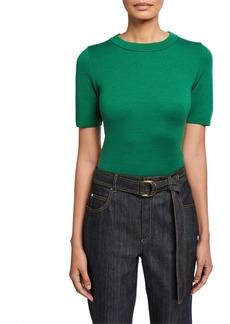 Escada Short-Sleeve Wool Sweater