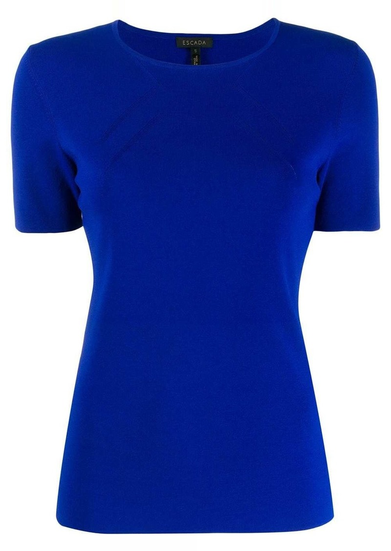 Escada short-sleeved knitted top