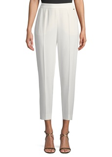 Escada Side-Zip Crepe Ankle Pants