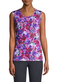 Escada Siem Floral Print Shell Top