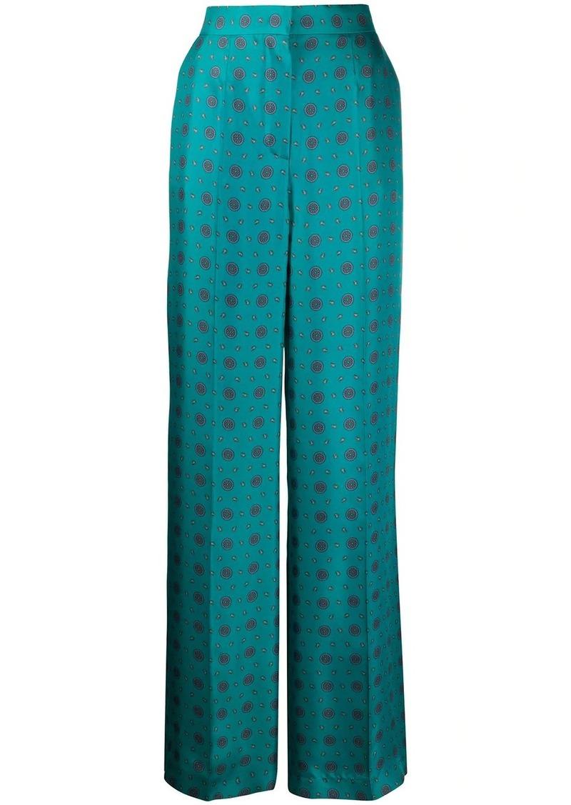 Escada silk high waisted trousers