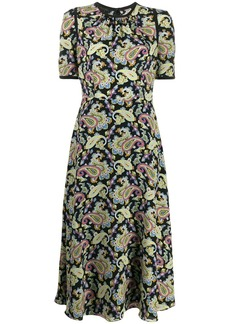 Escada silk paisley dress