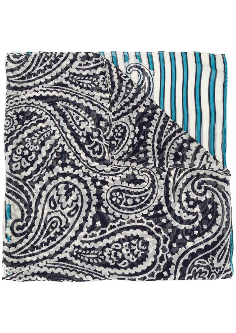 Escada silk paisley print scarf