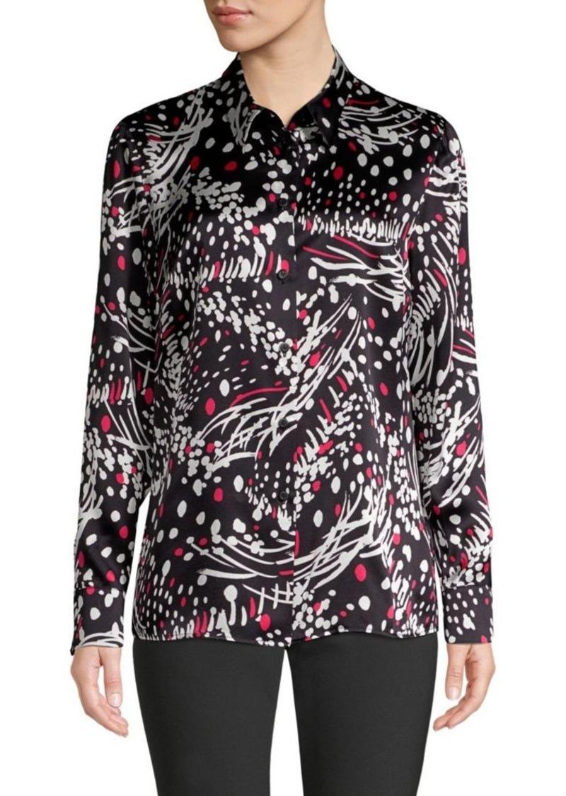 Escada Silk Print Shirt Casual Shirts