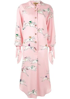 Escada silk printed shirt dress