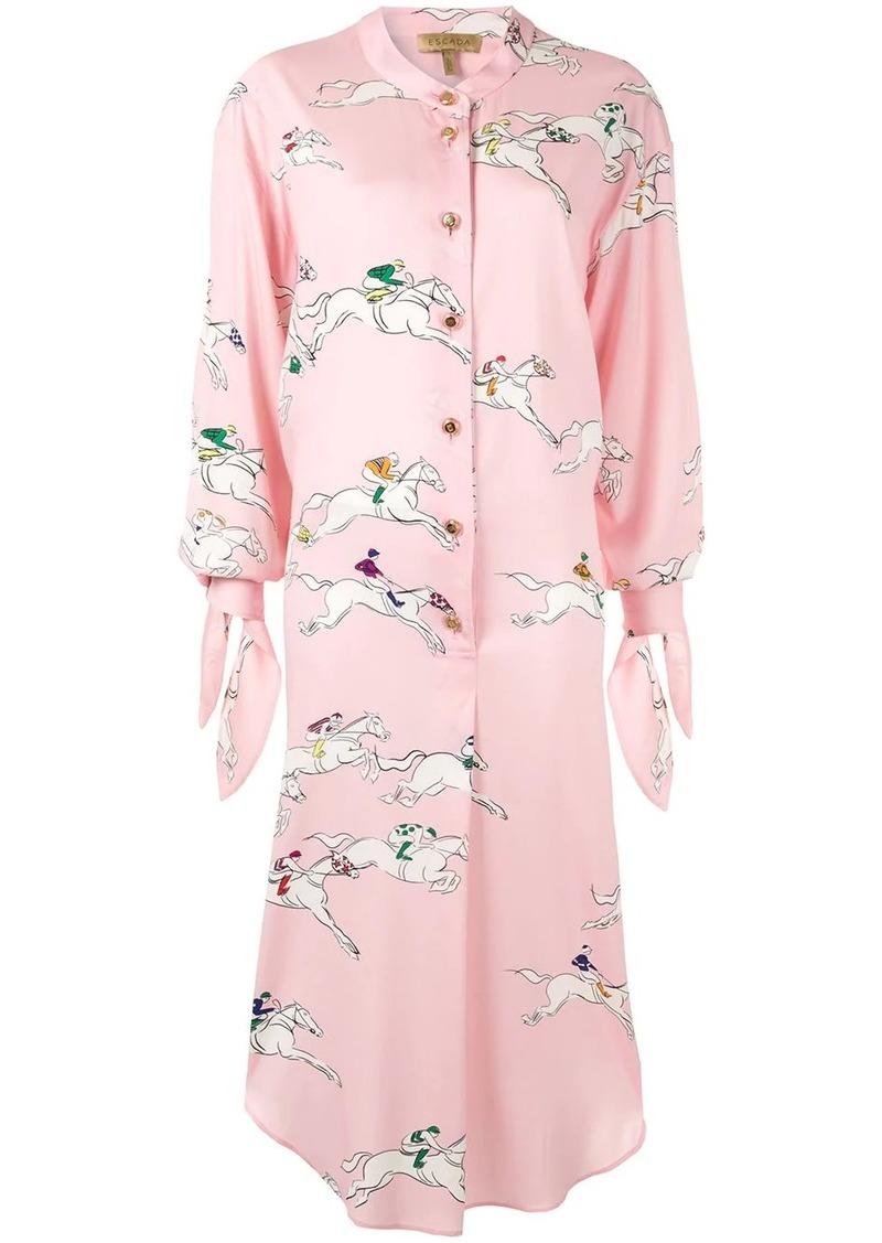 Escada silk printed shirt dress