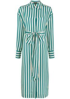 Escada silk shirt midi dress
