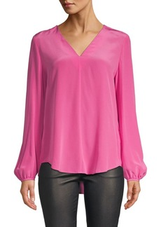 Escada Silk V-Neck Blouse