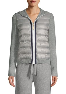 Escada Silvala Hooded Knitted Puffer Jacket