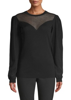 Escada Simesa Sweetheart Illusion Sweater