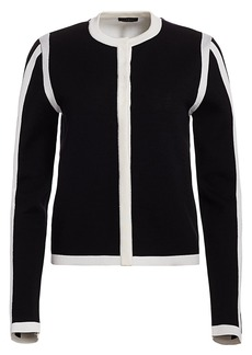 Escada Singh Silk & Wool-Blend Cardigan