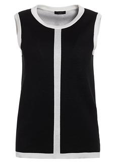 Escada Sinnar Silk & Wool-Blend Sleeveless Shell Top