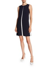 Escada Sleeveless A-Line Chemise Dress w/ Insets