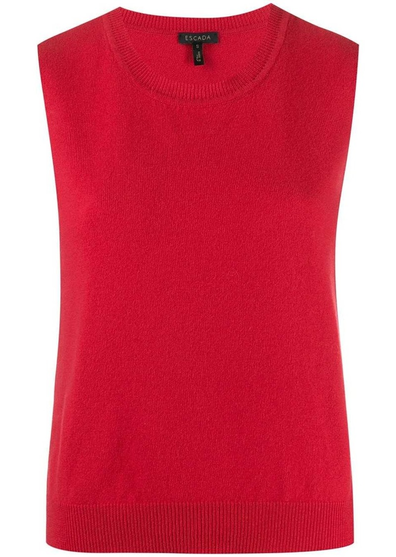Escada sleeveless knit top