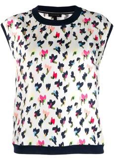Escada sleeveless leopard-print shirt