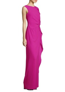 Escada Sleeveless Ruffle Gown