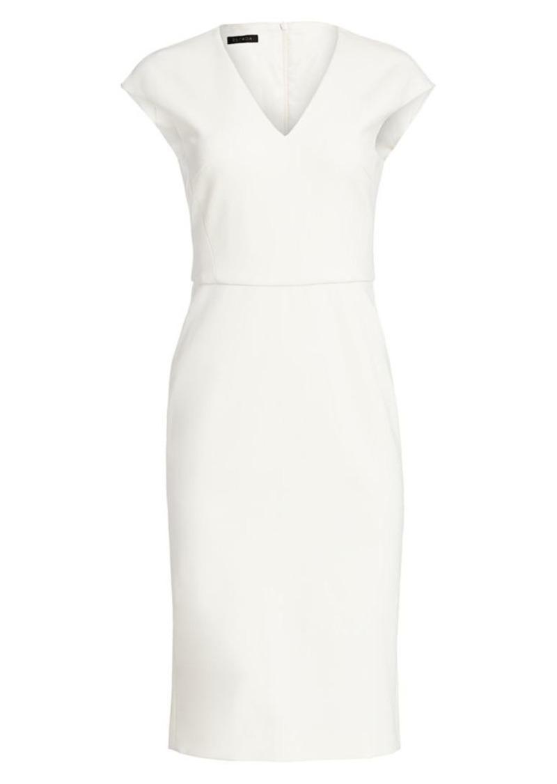 Escada Sleeveless V-Neck Jersey Dress