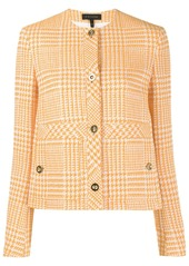 Escada slim-fit houndstooth jacket