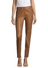 Escada Slim Leather Pants