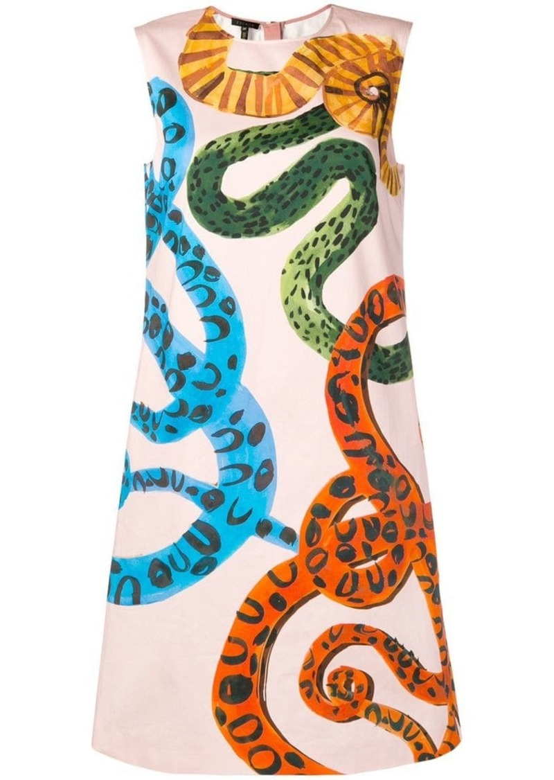 Escada snake-printed shift dress