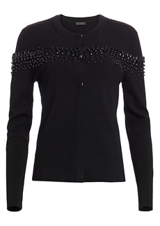 Escada Sonoa Jewel Embellished Cardigan