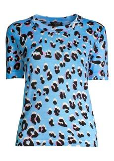 Escada Soshiba Knit Leopard Tee