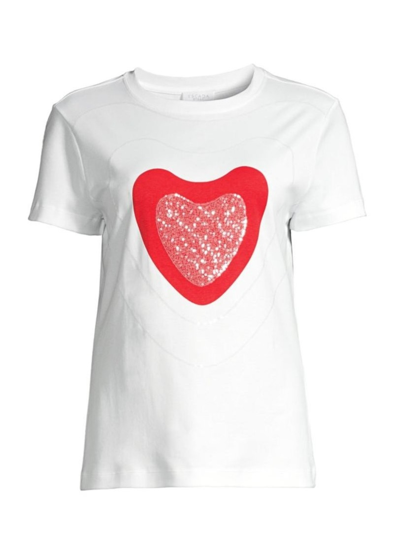 Escada Sparkling Red Heart T-Shirt