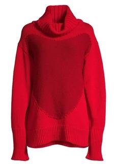 Escada Rita Ora Capsule Spider Heart Oversized Wool Sweater