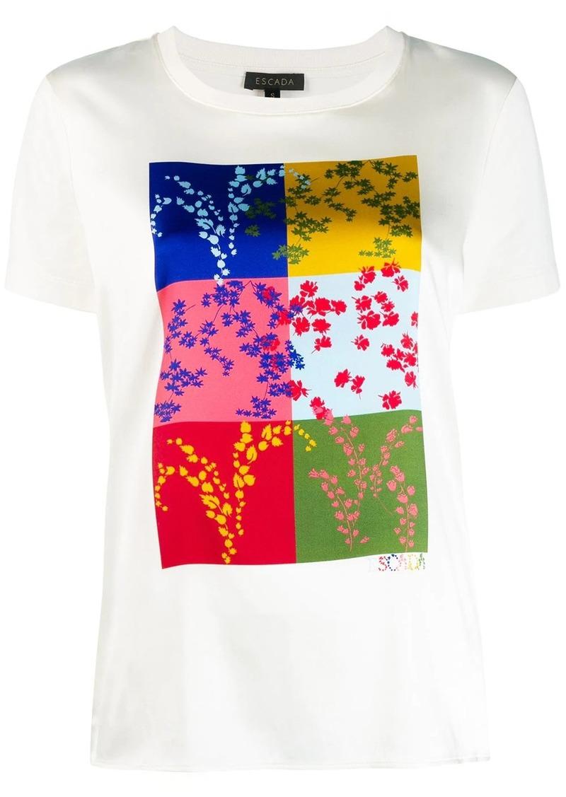 Escada square print T-shirt