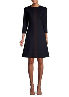 Escada Stitch Detailed Jersey Dress