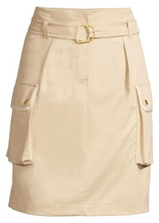 Escada Stretch Cargo Pencil Skirt
