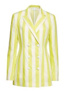 Escada Striped Blazer in Linen and Cotton