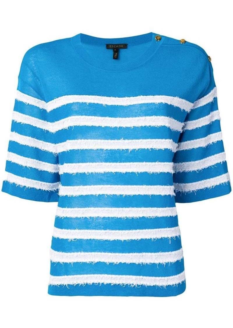 Escada striped knit top