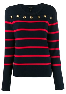 Escada striped print jersey top
