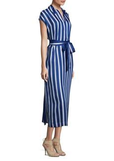 Escada Striped Silk Tunic Shirtdress