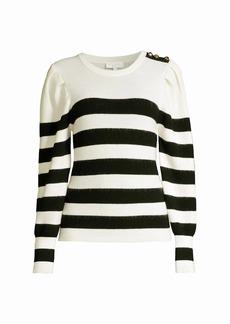 Escada Striped Wool Blend Sweater