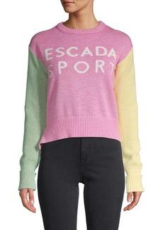 Escada Strong Colorblock Sweater
