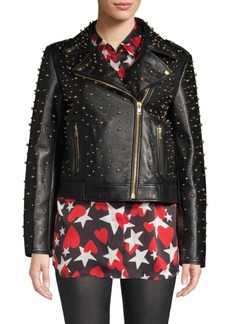 Escada Studded Leather Jacket