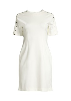 Escada Studded Trim Sheath Dress