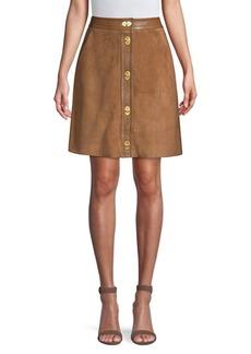 Escada Suede A-line Skirt