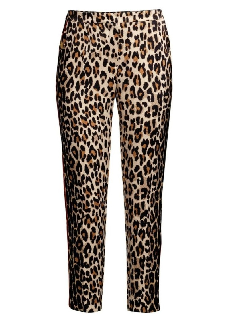 Escada Talarantu Leopard-Print Ankle Pants