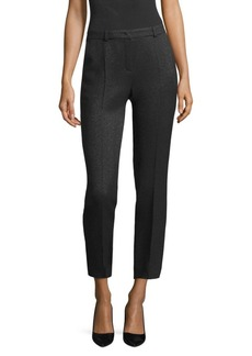 Escada Talas Metallic Wool Ankle Pants